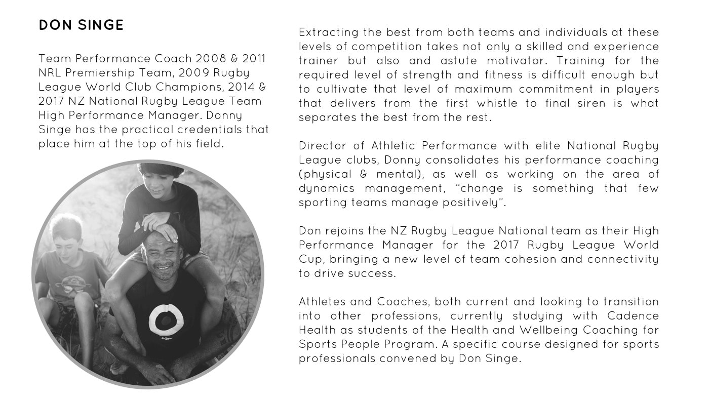 Sports Professionals Certificate of Wellbeing Coaching